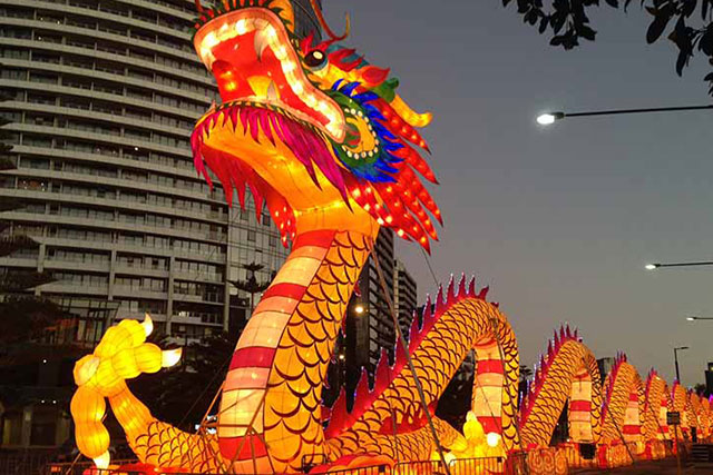 Docklands Melbourne: All the oriental flavours will be on deck at Melbourne's Docklands from Feb 4-14 courtesy of a Chinese New Year food market. Evenings will be lit up via an illuminated lantern tour, Feb 8-21.
