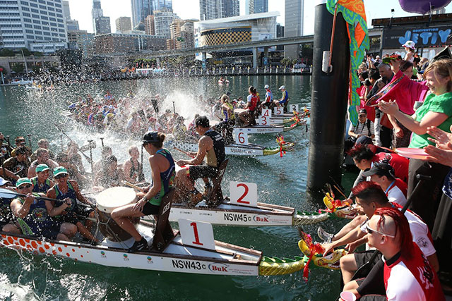 Dragon boat races, Darling Harbour, Sydney: Dragon boating is a Chinese cultural tradition, and the dragon boat regatta on Sydney's Darling Harbour pays due respect. The largest in Australia, it's a heart-pumping must-see event. Feb 20-21.