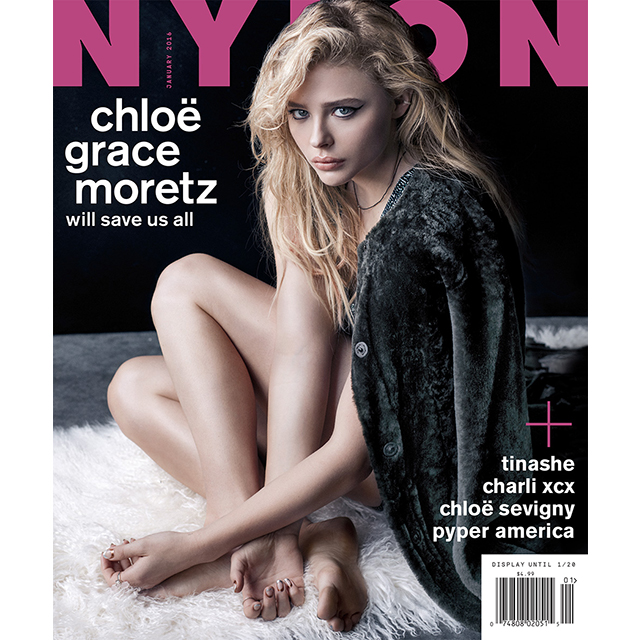 In case you needed reminding, Chloe was this much clothed on Nylon's cover. Yep.