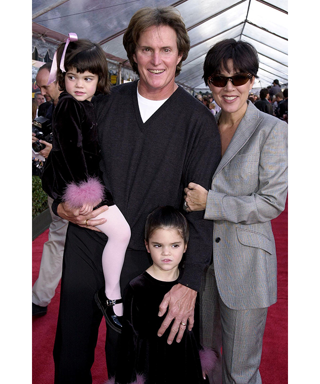With Kris, Bruce and Kendall Jenner in December 2003