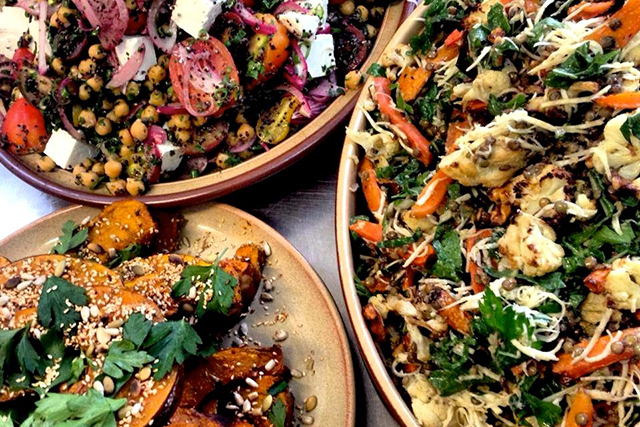 Nelson Road Tuckshop, Bondi Junction, Sydney:  This hip, grown-up tuckshop changes its bold bright salads on a weekly basis. Expect in-season flavours like fennel, cabbage, parsley, tomatoes, feta, red onion, pumpkin, cauliflower, and carrot.