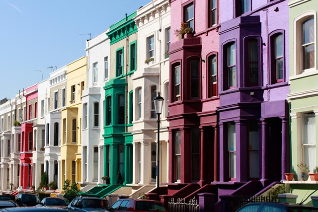 Notting Hill, London, UK: Made famous by the movie, this London postcode boasts pastel-hued housing and A-list star sightings.