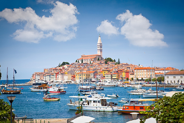 Rovinj, Croatia: The star attraction on the Istrian peninsula, Rovinj was modelled on Venice, making it a retail mecca of Venetian masks surrounded by sparkling Adriatic Sea.