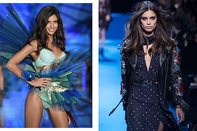 "Dream runway outfit: ""Anything that makes me feel confident and sexy."" (Left: at the Victoria's Secret 2015 show. Right: Elie Saab A/W '16)"