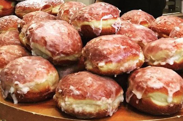 Wieczorkowski, Woollahra, Sydney: Traditional Polish coffee house with a mountain of handmade glazed doughnuts on offer - simple and sublime.