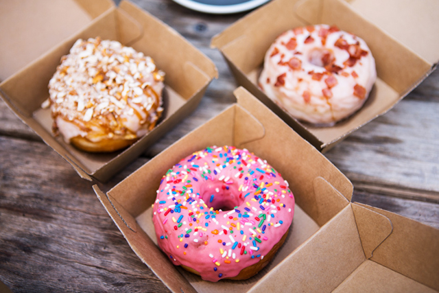 Woah Nelly, Sydney (order online): Nine flavours on the menu including salted caramel with pretzels, Homer Simpson strawberry iced with sprinkles, orange and toasted pistachio, buttered popcorn, all delivered directly to your door.