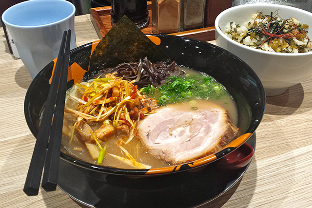 Yasaka Ramen, CBD: Exposed brick walls lend inner-city swagger to this Liverpool Street nirvana. Their trademark 'no ramen, no life' plays out via traditional tonkatsu (pork bone broth), which is the basis for their incredibly satisfying take on the dish.