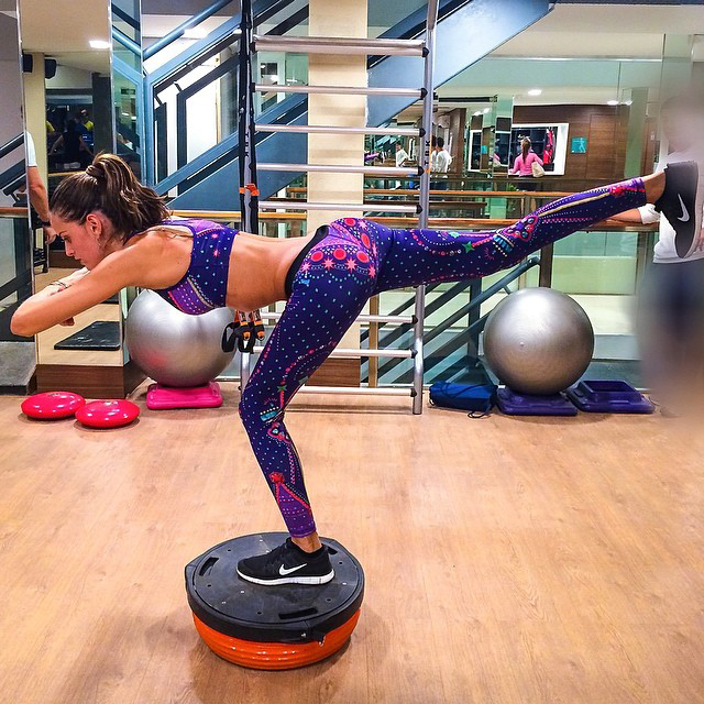 2. Create instability on your workouts. When your body is not fully stable while exercising your core muscles fire up.