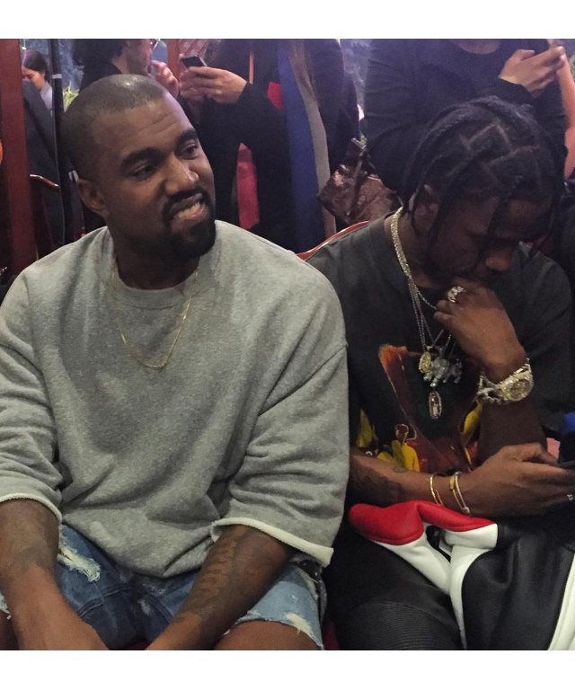 Kanye West front row at the Vetements A/W '16 show