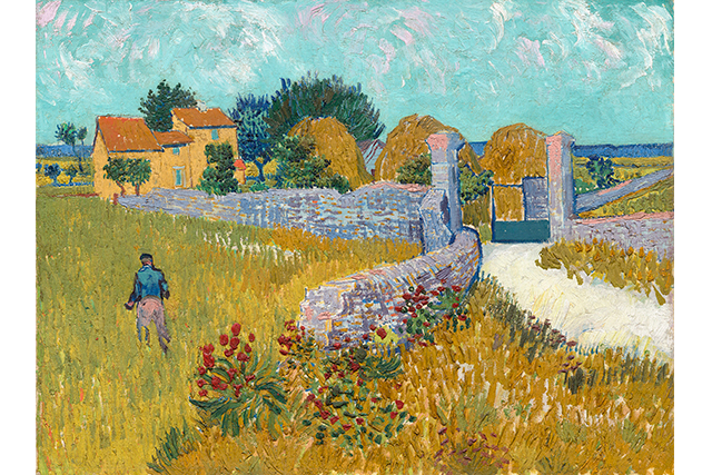 Vincent van Gogh, Farmhouse in Provence June 1888 Arles oil on canvas 46.1 x 60.9 cm National Gallery of Art, Washington Ailsa Mellon Bruce Collection (1970.17.34)