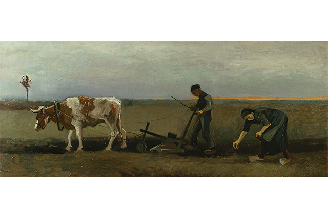 Vincent van Gogh, Planting potatoes September 1884 Nuenen oil on canvas 70.5 x 170.0 cm Von der Heydt-Museum, Wuppertal