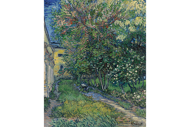 Vincent van Gogh, The garden of the asylum at Saint-Rémy May 1889 Saint-Rémy oil on canvas 91.5 x 72.0 cm Kröller-Müller Museum, Otterlo © Collection Kröller-Müller Museum, Otterlo, the Netherlands