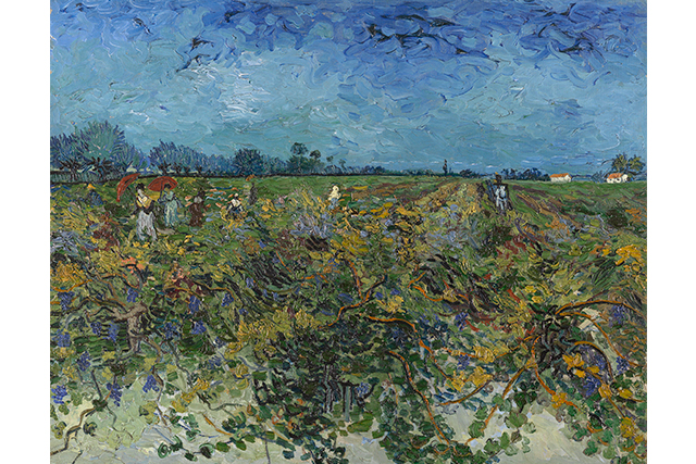 Vincent van Gogh, The green vineyard 2–3 October 1888 Arles oil on canvas 72.2 x 92.2 cm Kröller-Müller Museum, Otterlo © Collection Kröller-Müller Museum, Otterlo, the Netherlands