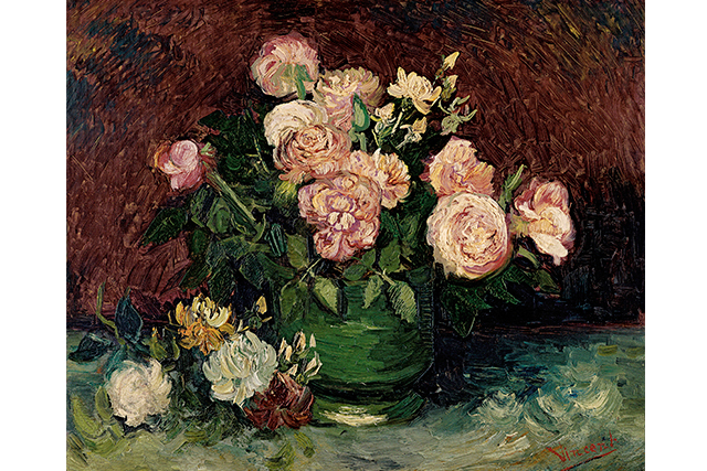 Vincent van Gogh, Roses and peonies June 1886 Paris oil on canvas 59.8 x 72.5 cm Kröller-Müller Museum, Otterlo © Collection Kröller-Müller Museum, Otterlo, the Netherlands