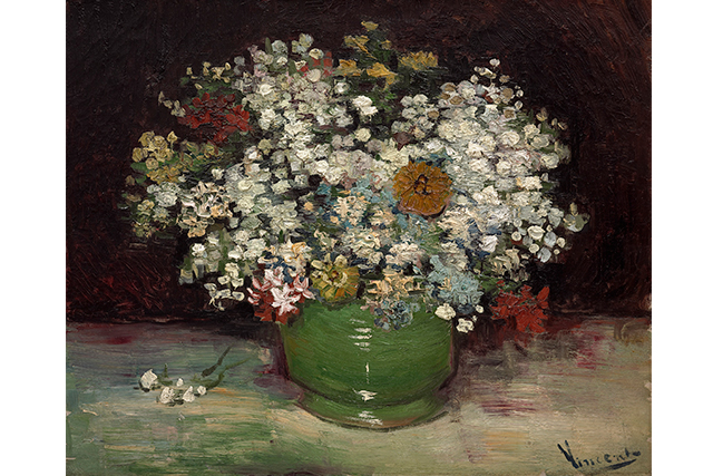 Vincent van Gogh, Bowl with zinnias and other flowers 1886 50.2 x 61.0 cm oil on canvas Purchased 1951 National Gallery of Canada