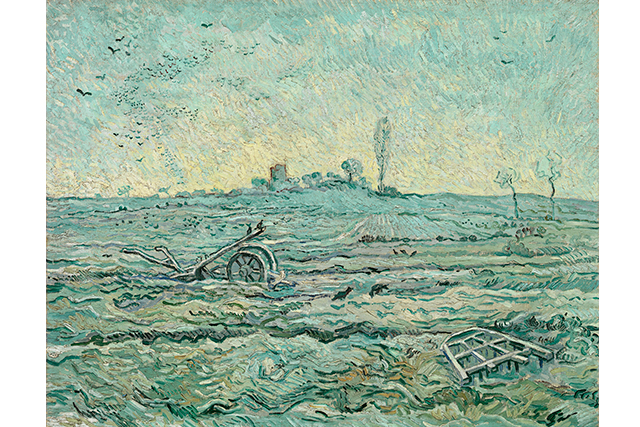 Vincent van Gogh, Snow-covered field with a harrow (after Millet) January 1890 Saint-Rémy oil on canvas 72.1 x 92.0 cm Van Gogh Museum, Amsterdam (Vincent van Gogh Foundation)