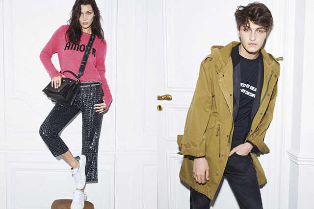 Bella and Anwar Hadid for Zadig et Voltaire, S/S'17