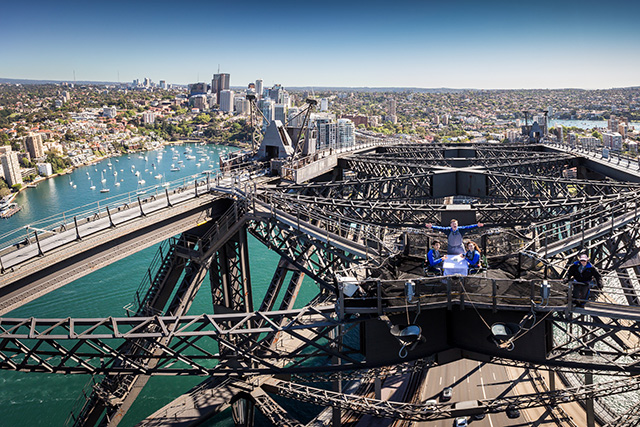 World first: Sydney Harbour Bridge's pop up restaurant
