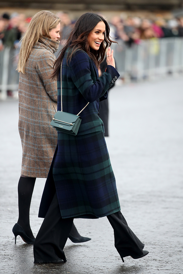 Meghan Markle dressed very Scottish while in Scotland