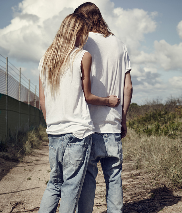 Blue crush: check out the images from Bassike's first-ever denim campaign