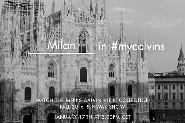 Live from Milan: watch the Calvin Klein A/W'16 menswear show