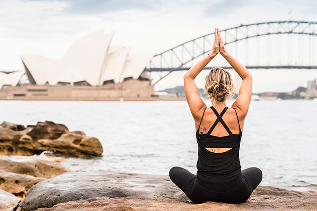 PSA: free sunset yoga is happening in Sydney