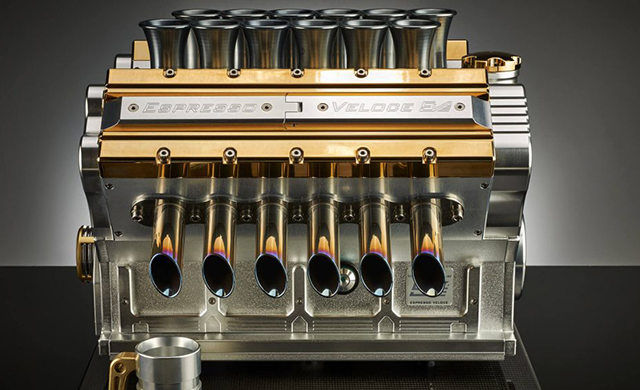 Rev your engine: Check out this motor-inspired coffee machine