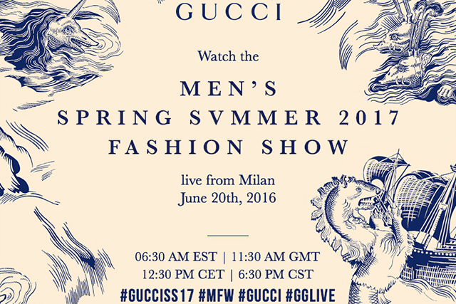 Live from Milan: Gucci Men's S/S '17 show