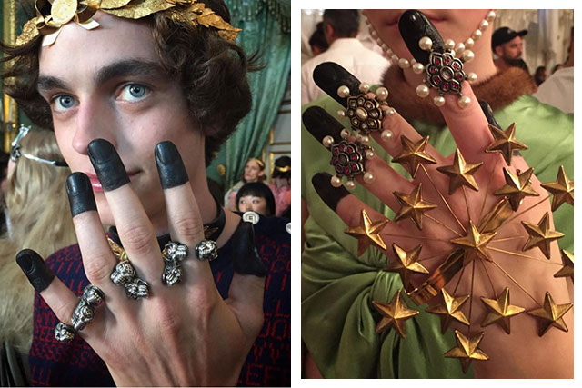 You need to see Gucci Cruise show's impressive nail art