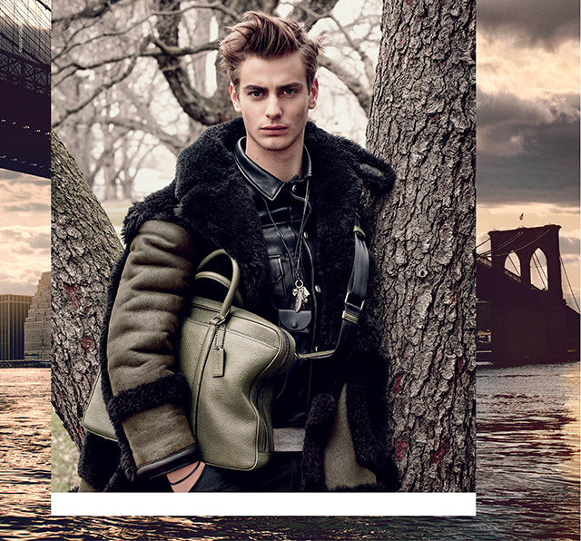 Leather up: a look at the new Coach menswear campaign