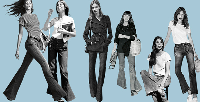 Instant update: why you should be wearing denim flares