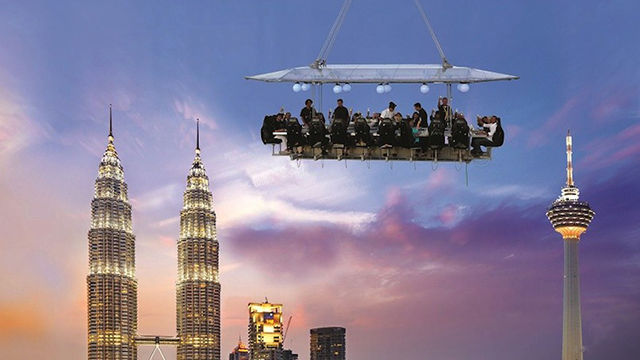 Up and away: Malaysia takes dining to dizzying new heights