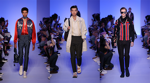 Bombers out: Louis Vuitton's menswear S/S '16 show