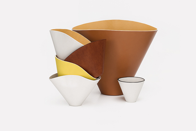 Bowled over: Loewe's luxe leather vessels are a must for design lovers