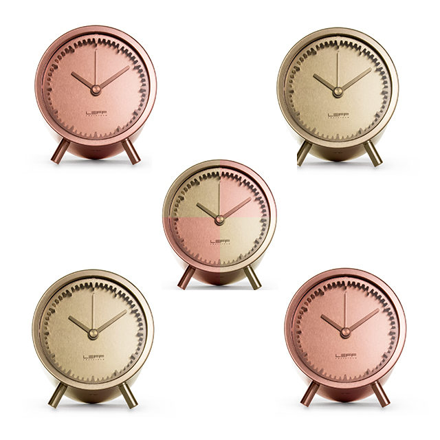Gold standard: keep time in style with lustrous clock designs