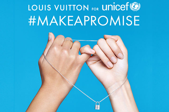 Louis Vuitton collabs with Unicef for #MakeAPromise day