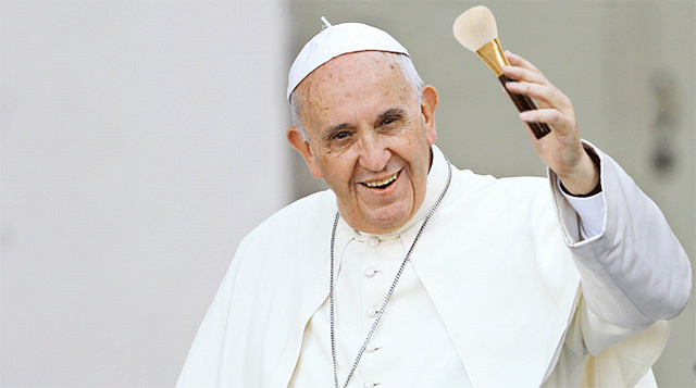 Pope Francis gives the holy stamp of approval to beauty vloggers