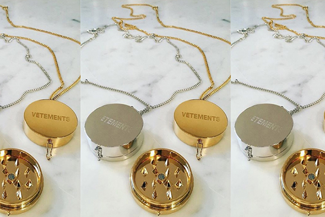 Vetements has released a weed-grinder necklace