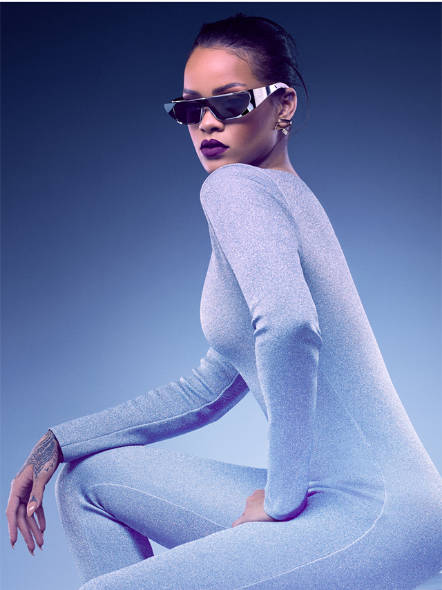 Rihanna has designed a sci-fi sunglasses collection for Dior