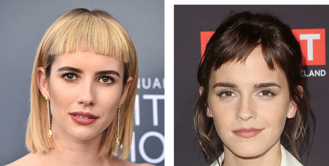 Micro-bangs are the hair trend of 2018 that you'll either love or loathe
