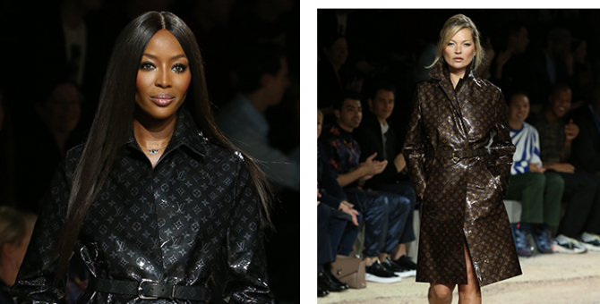 Naomi Campbell & Kate Moss steal the show at Louis Vuitton Homme A/W'18