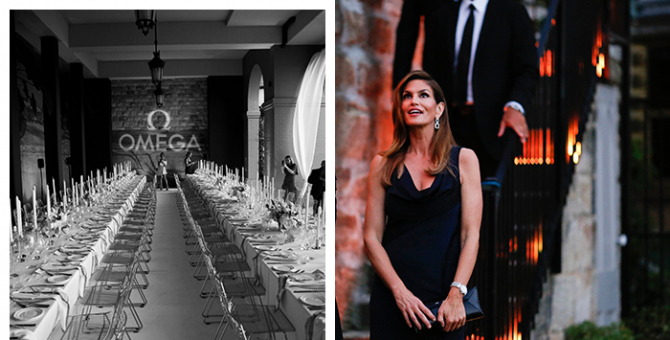See inside Cindy Crawford's exclusive black tie Omega dinner in Sydney