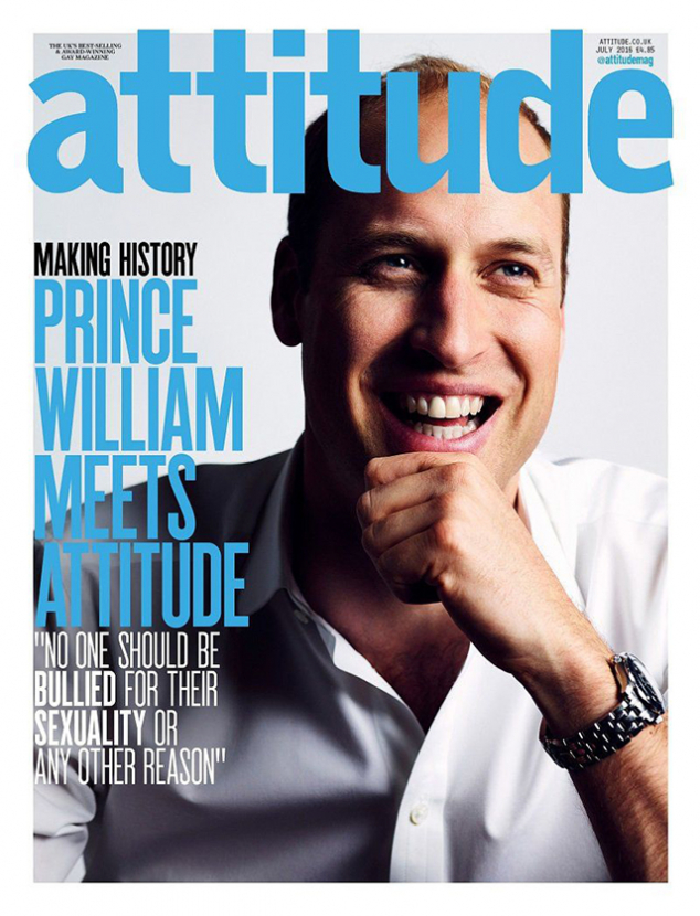 Prince William makes history on the cover of a gay magazine