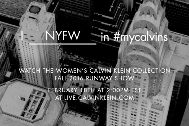 Live from New York: watch the Calvin Klein A/W '16 show