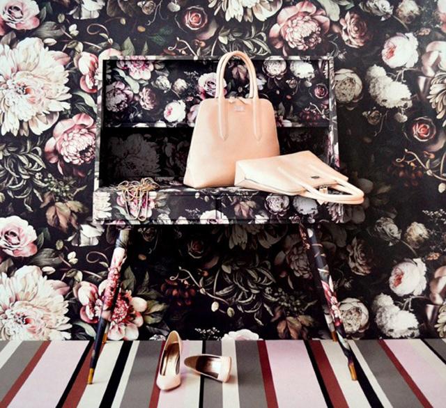 Ellie Cashmans Dark Floral Wallpaper Now In Cushions Buro 247