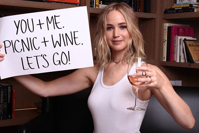 Want to go wine tasting with Jennifer Lawrence?