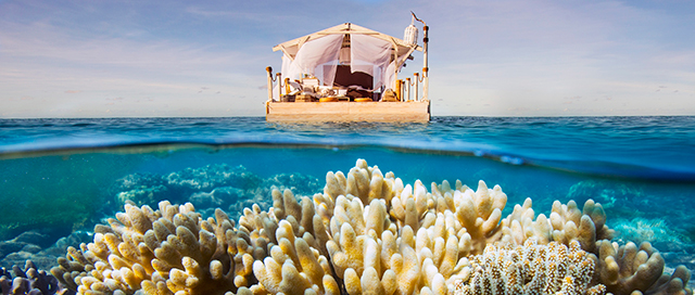You can soon stay in a floating private paradise on the Great Barrier Reef