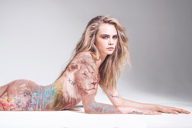 Cara Delevingne bares all in a new near-nude campaign