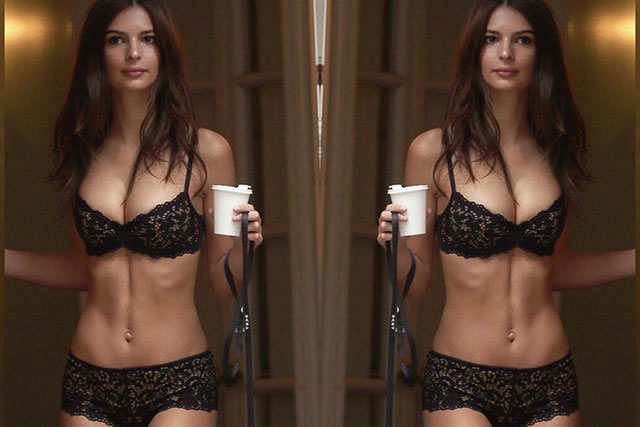 Emily Ratajkowski walks the streets of NYC in lingerie