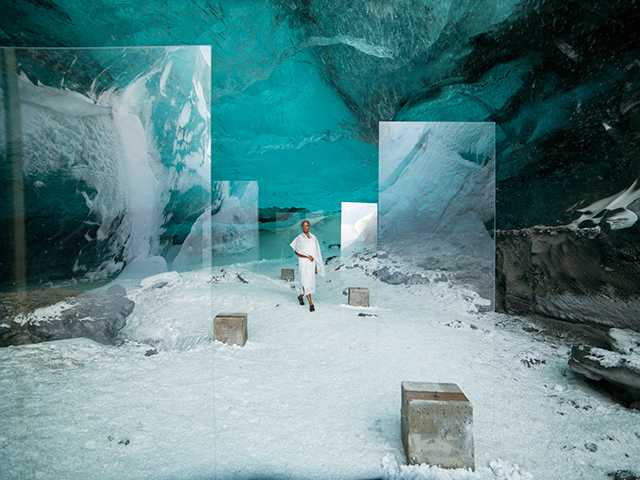 Stones Against Diamonds: the exhibition filmed inside Europe's largest glacier